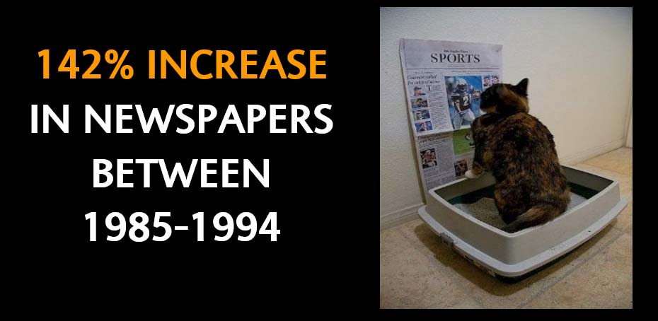 Increase in Newspapers