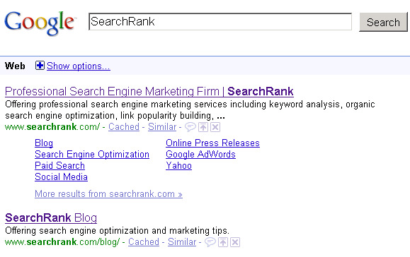 SERPs for SearchRank