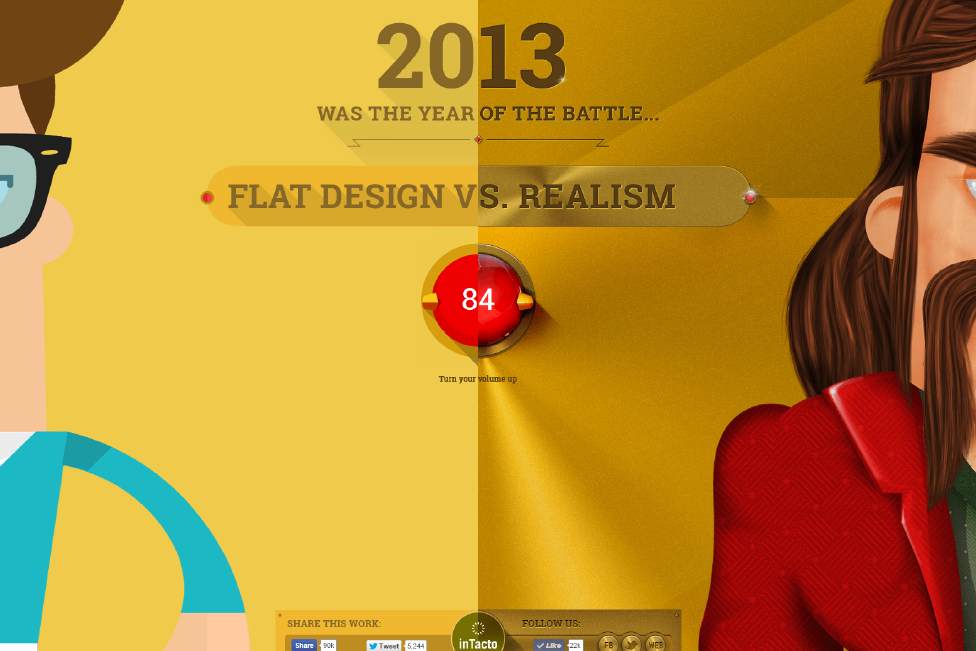 flat vs realism parallax website